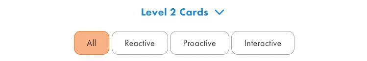 card-filtering menu